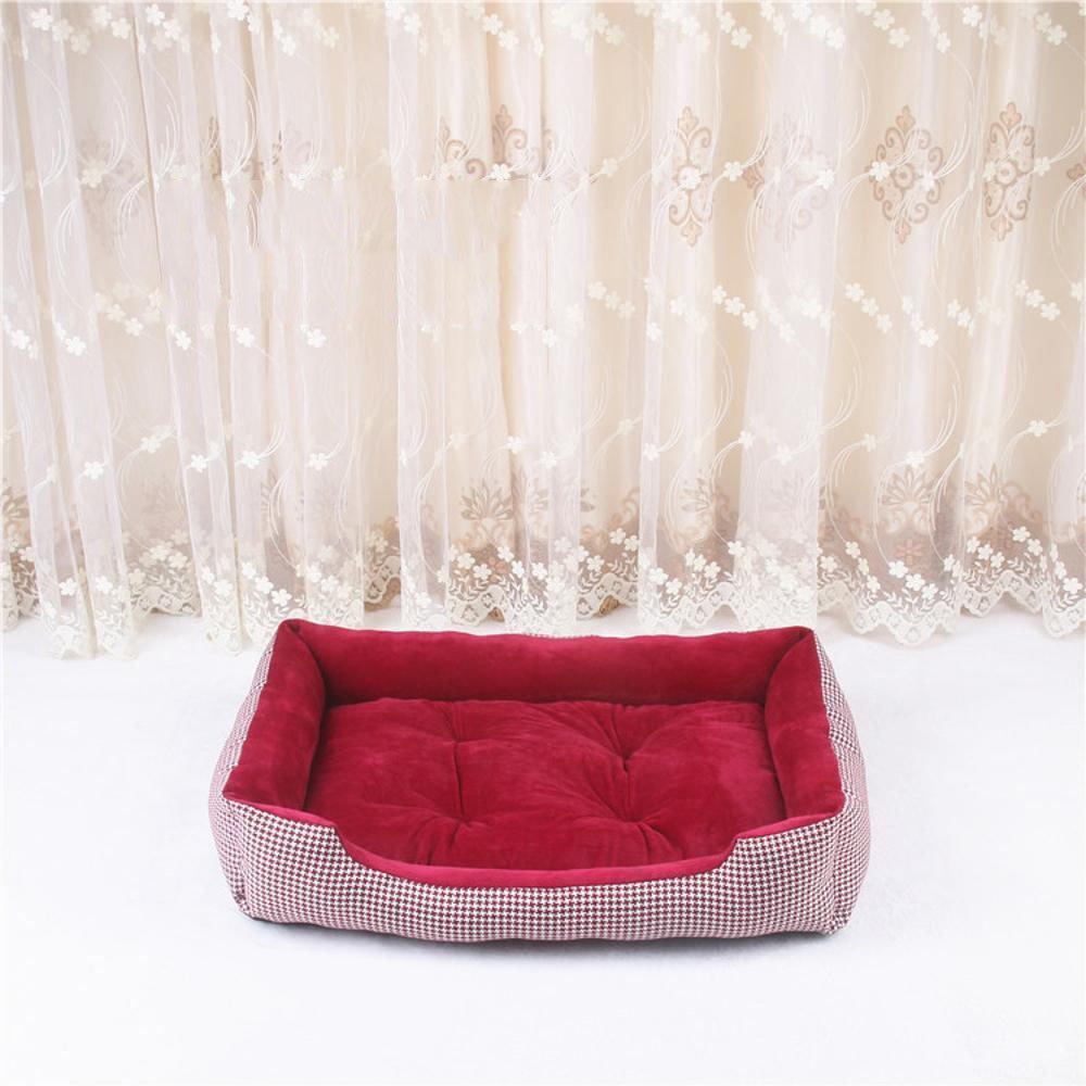 Kaxima Pet Bed for Pet Mat Cotton Linen Kennel Four Seasons General