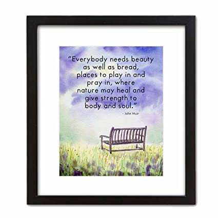 Amazon Watercolor Art Print Nature Scene With John Muir Quote