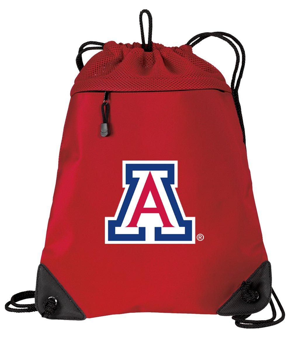 Broad Bay University of Arizona Drawstring Backpack Bag Arizona Wildcats Cinch Pack - UNIQUE MESH & MICROFIBER