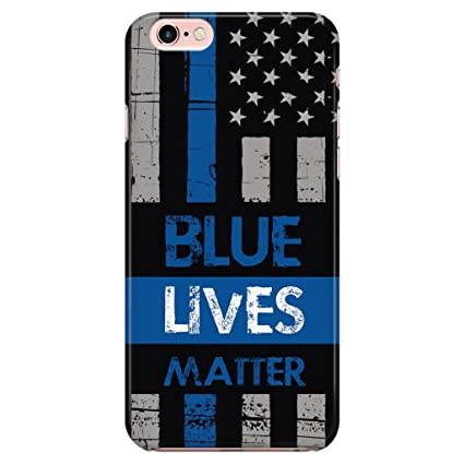 Turbo Delivery LLC Blue Lives Matter Police Law Enforcement -Rubber Case for Apple iPhone 7