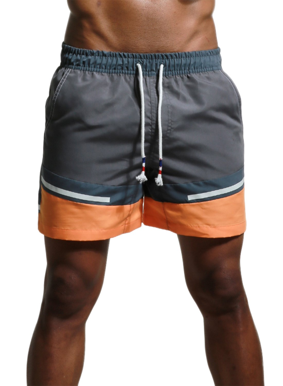 Men's Swim Trunks Quick Dry Bathing Suits Casual Swim Shorts Grey 32/Tag Asian L