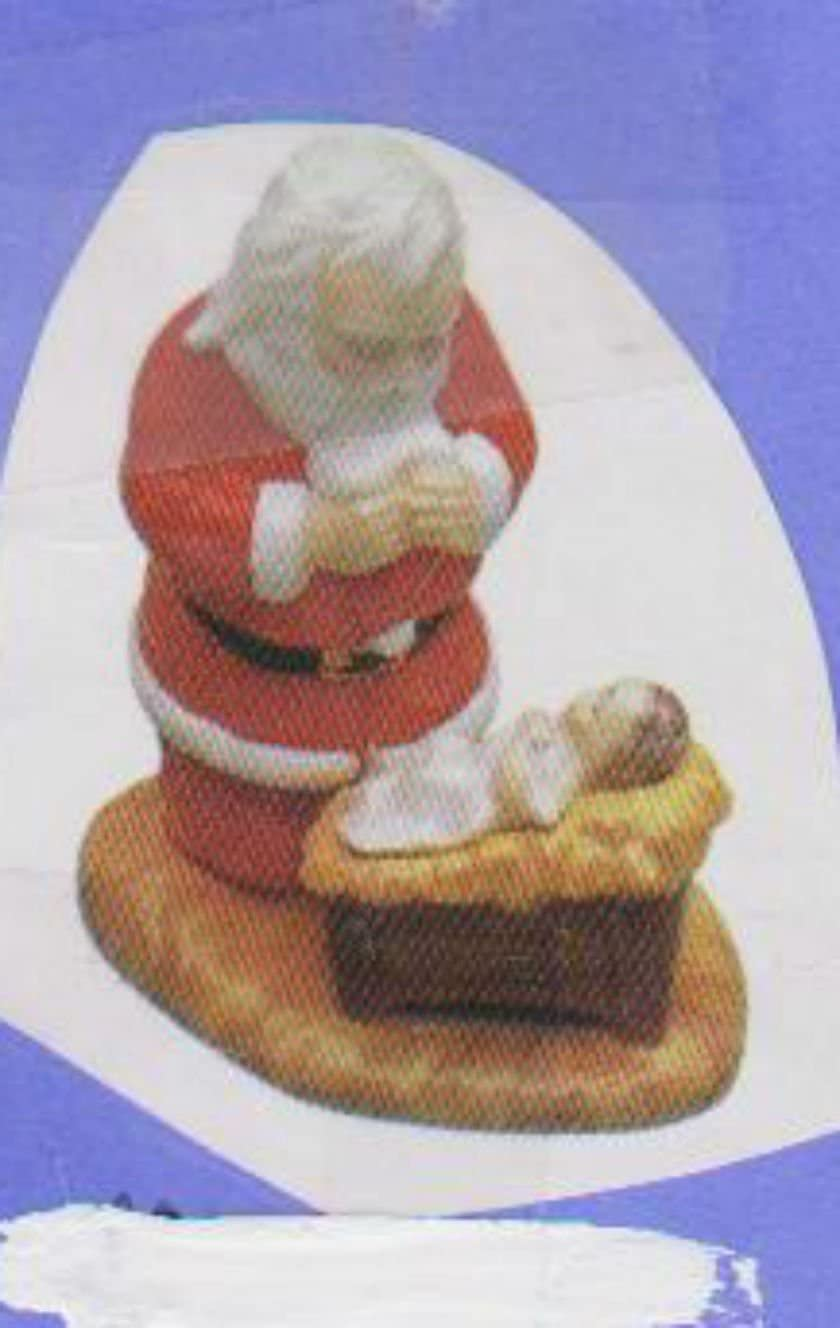 Kneeling Santa with Baby 7 Ready to Paint Ceramic Bisque