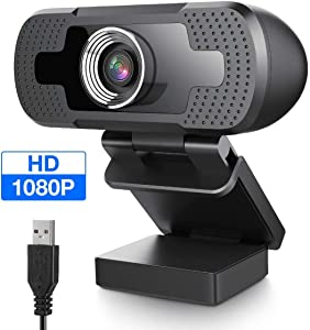 EIVOTOR USB Webcam 1080P with Full HD Microphone PC Camera Desktop Streaming Webcam for Recording, Zoom, YouTube, Skype, Video Calls, Studio, Conference, Supports Windows, Android, Linux