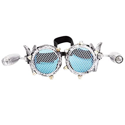 f51acaca4cfc Amazon.com  Focussexy Vintage Steampunk Goggles Retro Glasses Crystal Lenses  for Rave Cosplay Halloween  Home Improvement