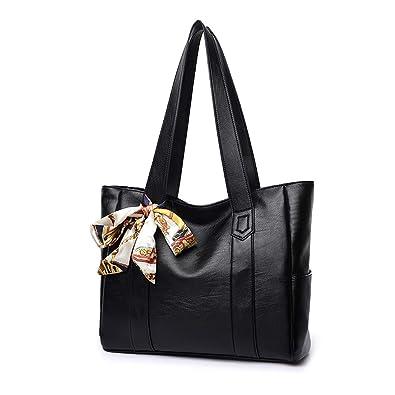 Amazon.com  Artwell Womens Purses and Handbags Shoulder Bag Ladies Designer  Top Handle Satchel Tote Bag (Black)  Shoes 972c3c98ea261