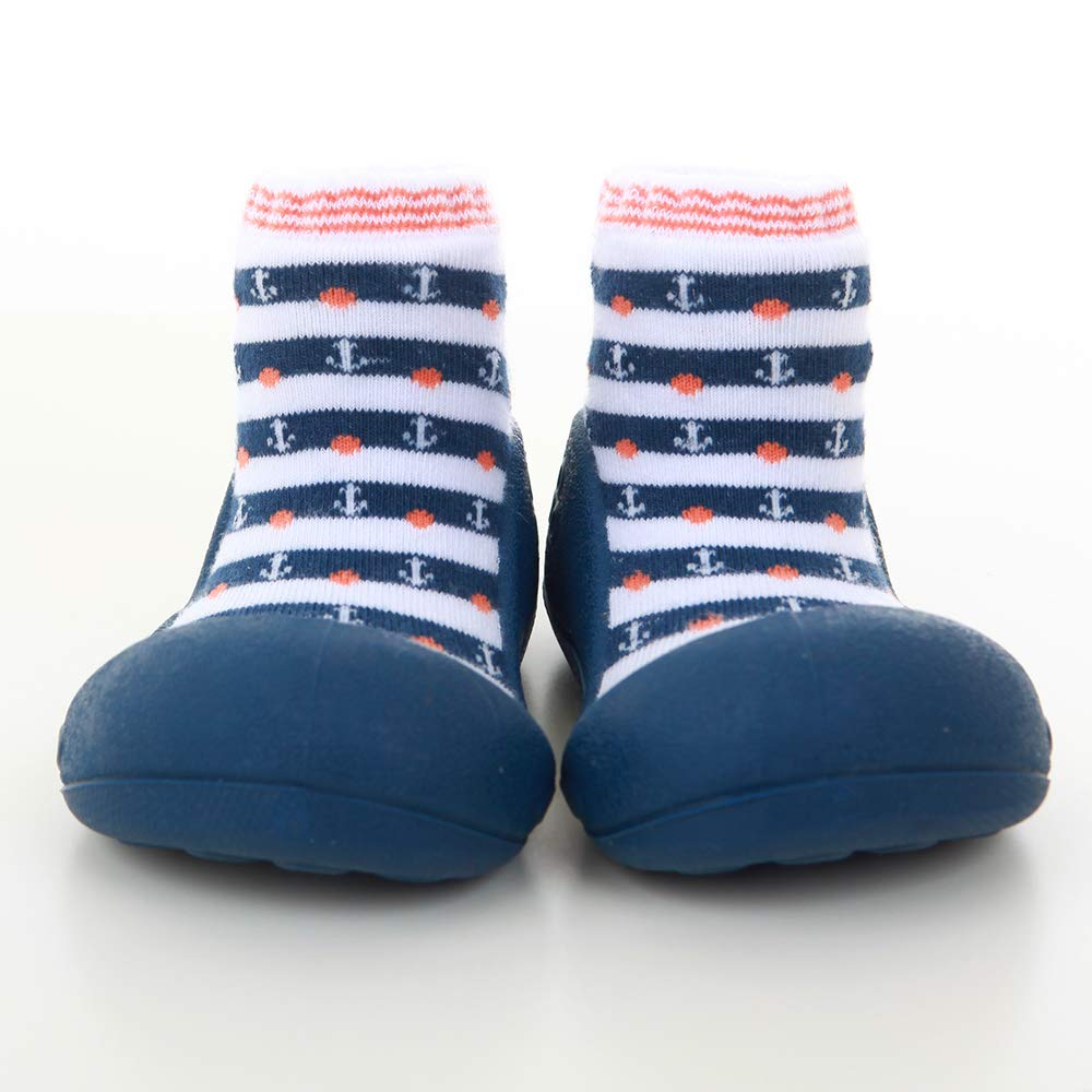 Attipas Big Toe Box Toddler ShoeMARINE Navy X Large by Attipas