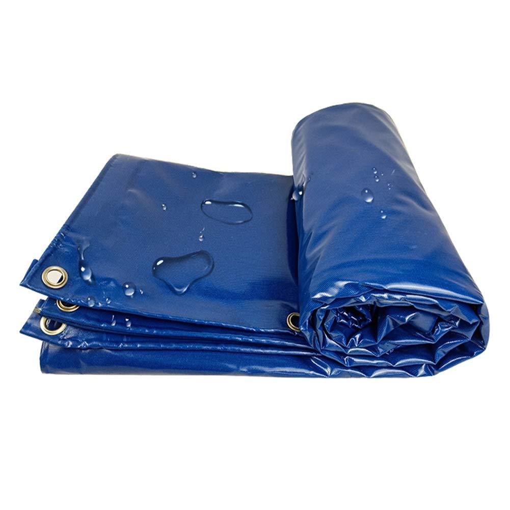 Professional poncho Toile d'ombre de bÂche extérieure Bleue pour la bÂche de Camion de Camping avec la boutonnière Multi-Taille Personnalisable bleu 5x6m