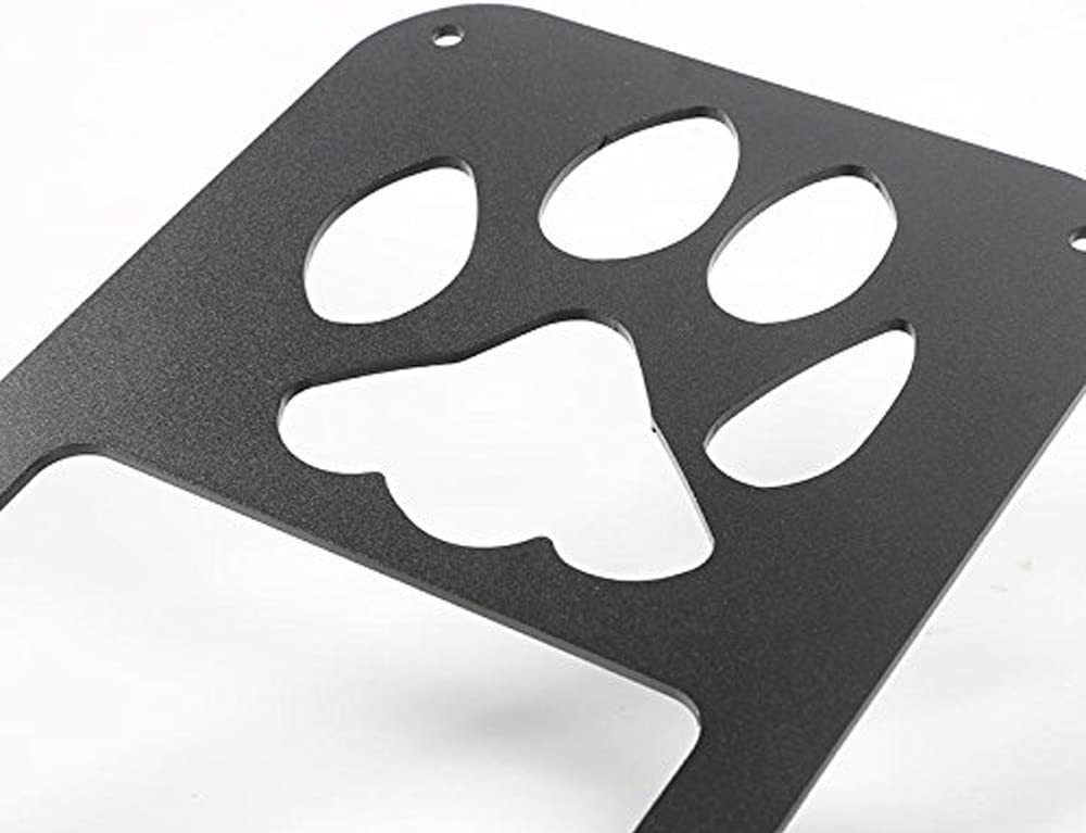 Esyauto Tail Lights covers Rear Taillignts Trim Guard Dog Paw Black Lamps Protector pawprint Style for vehicle 2 pcs