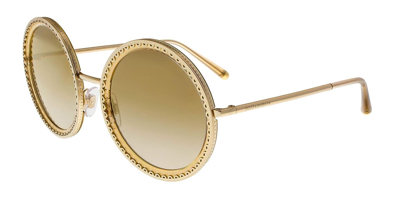 ef1832f88b Dolce&Gabbana DG2211 Sunglasses 02/6E-53 -, Grad Light Brown Mirror Gold  DG2211-02-6E-53: Amazon.ca: Clothing & Accessories