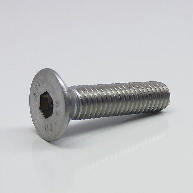 M10 x 40 mm Senkkopfschrauben mit Innensechskant ISO 10642 Senkkopf Schrauben 50 St/ück rostfrei Gewindeschrauben Edelstahl A2 V2A Eisenwaren2000 - DIN 7991 Vollgewinde