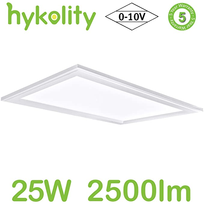 Built In Driver Led Flat Panel Troffer Light Residential Surface Mount Commercial Drop Ceiling Dimmable Fixture Etl Listed Com