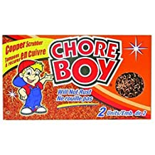 (Ship from USA) 12 Pack Chore Boy Copper Scrubber Pads no. 00215