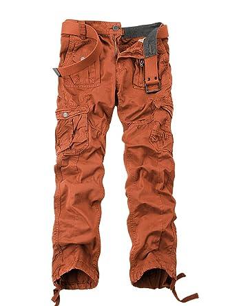 OCHENTA Herren Freizeithose Wasserwäsche Cargohose mehrere Tasche aus  Baumwolle Loose-Fit  Amazon.de  Bekleidung f7adf5927f