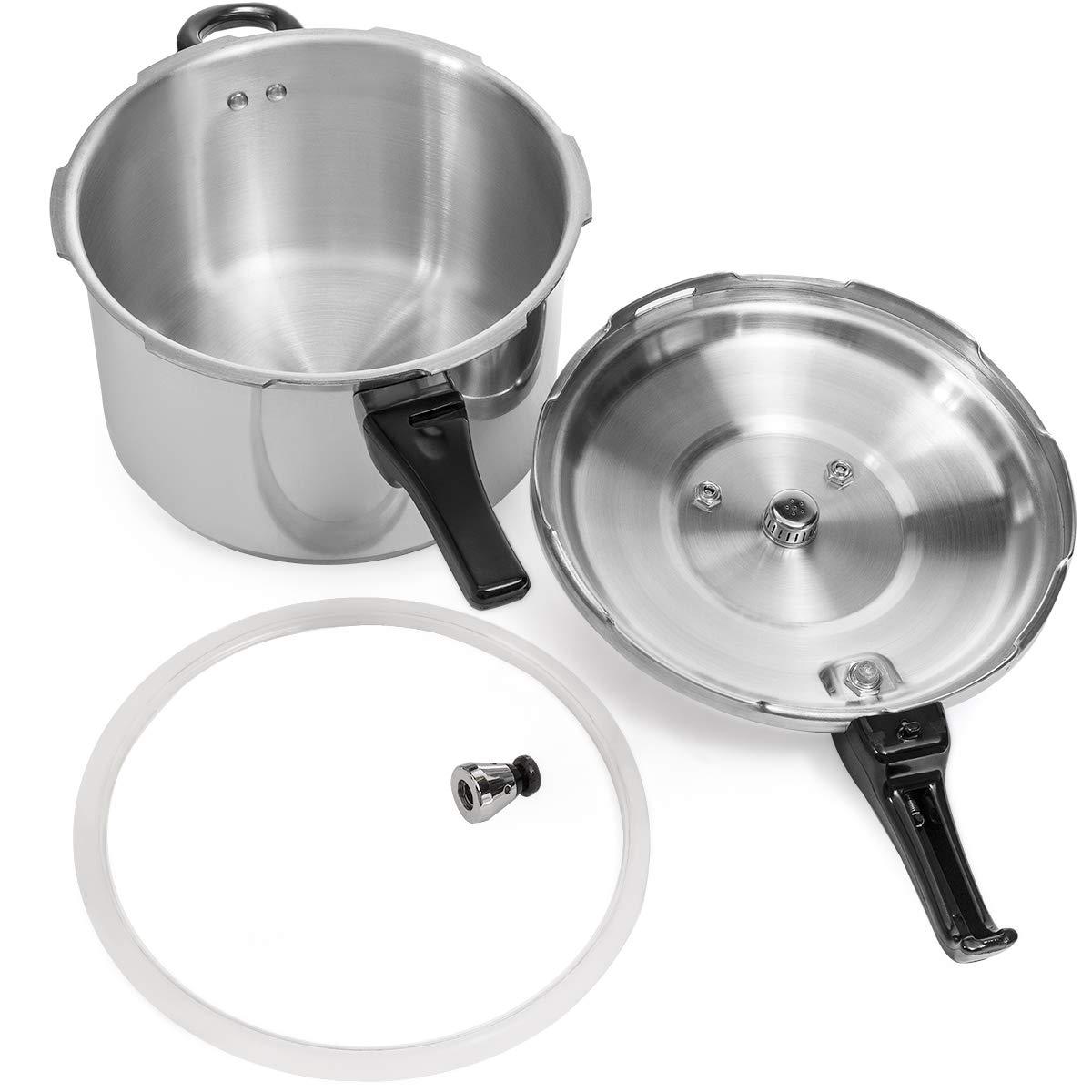 Barton 8-Quart Aluminum Pressure Cooker Stovetop Fast Cooker Pot Pressure Regulator Fast Cooking Steam Release Valve by Barton (Image #7)