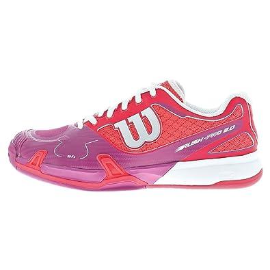 release date: 8f929 75af1 Wilson Women s Rush Pro 2.0 Neon Red Pink Sneaker 5.5 B ...