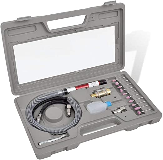 Vislone Kit de Mini Amoladora neumática en Caja 335 x 200 x 50 mm ...