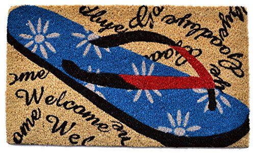 Imports-Dcor-Welcome-Goodbye-Flip-Flop-Vinyl-Backed-Coir-Doormat-30-by-18-by-12-Inch