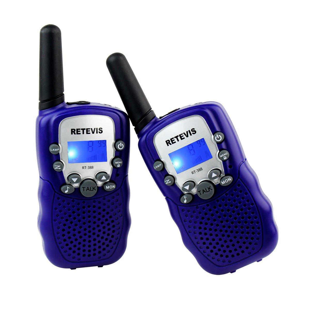 Retevis RT Niños Walkie talkie con pantalla LCD y Linterna Incorporado Radio