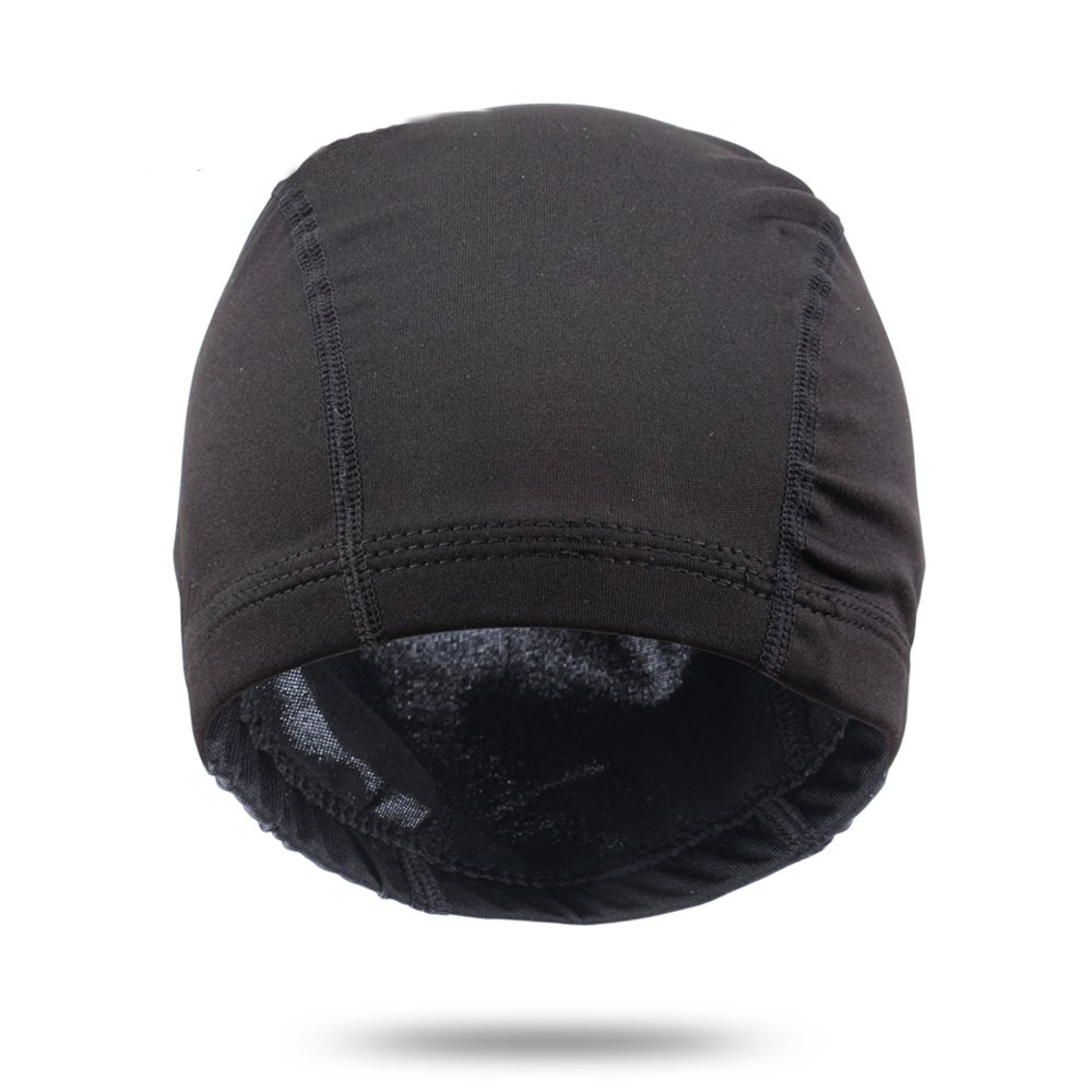 Leeons 5Pack Spandex Dome Style Wig Cap, Ultra Stretch Black Dome Cap, Elastic Hairnets Wig Caps for Men Women (Black) by Leeons (Image #2)