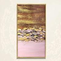 Pittura Ad Olio Dipinto A Mano Su Tela,Abstract Paesaggio Dipinti,Oro Rosa E Caduta Foglie,Moderno Da Parete Decorativa Di Dimensioni Grandi Illustrazioni Per Ingresso Soggiorno Camera Da Letto Adulti
