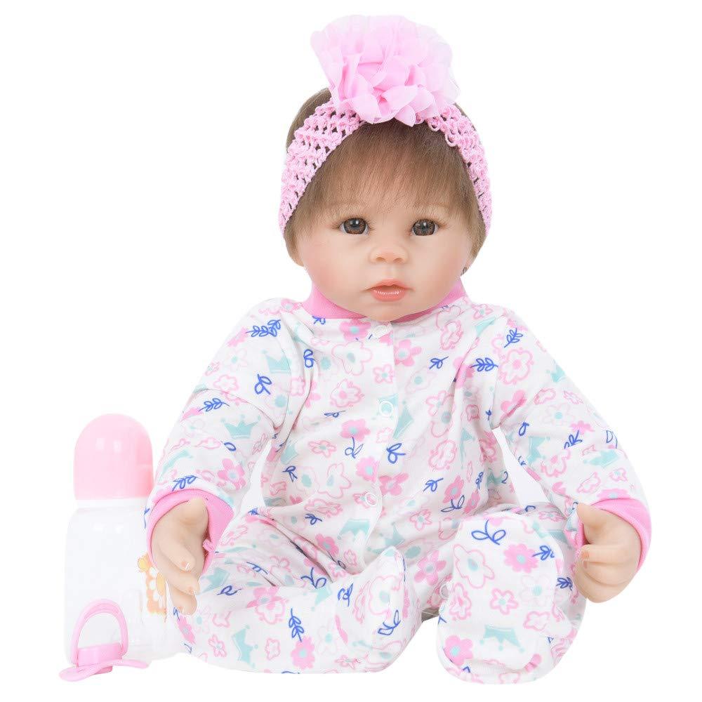 DOGZI Muñecas Recién Nacida Lifelike de Las Muñecas del Bebé Realista Silicone Vinly 45CM para Los Juguetes del Regalo de la Muchacha Caliente Reborn Baby Doll