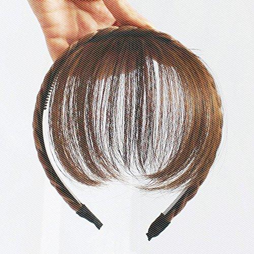 Black students Korean hairpin hair accessories fake bangs with hair bands hair bands headband wig women girls female short hair fluffy fashion -