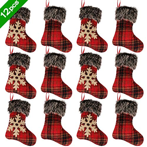 Ivenf Christmas Mini Stockings, 12 Pack 9