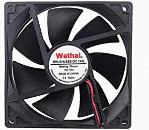 Wathai 92x92x25mm 92mm 12V DC Industrial Exhaust Cooling Fan