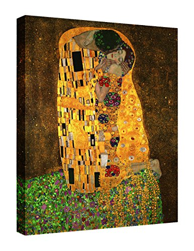 Eliteart-The Kiss By Gustav Klimt Giclee Art Canvas Prints