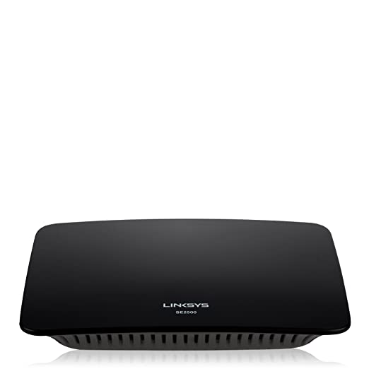 112 opinioni per Linksys SE2500-EU Switch Desktop Gigabit Ethernet a 5 Porte, 10/100/1000 Mbps,
