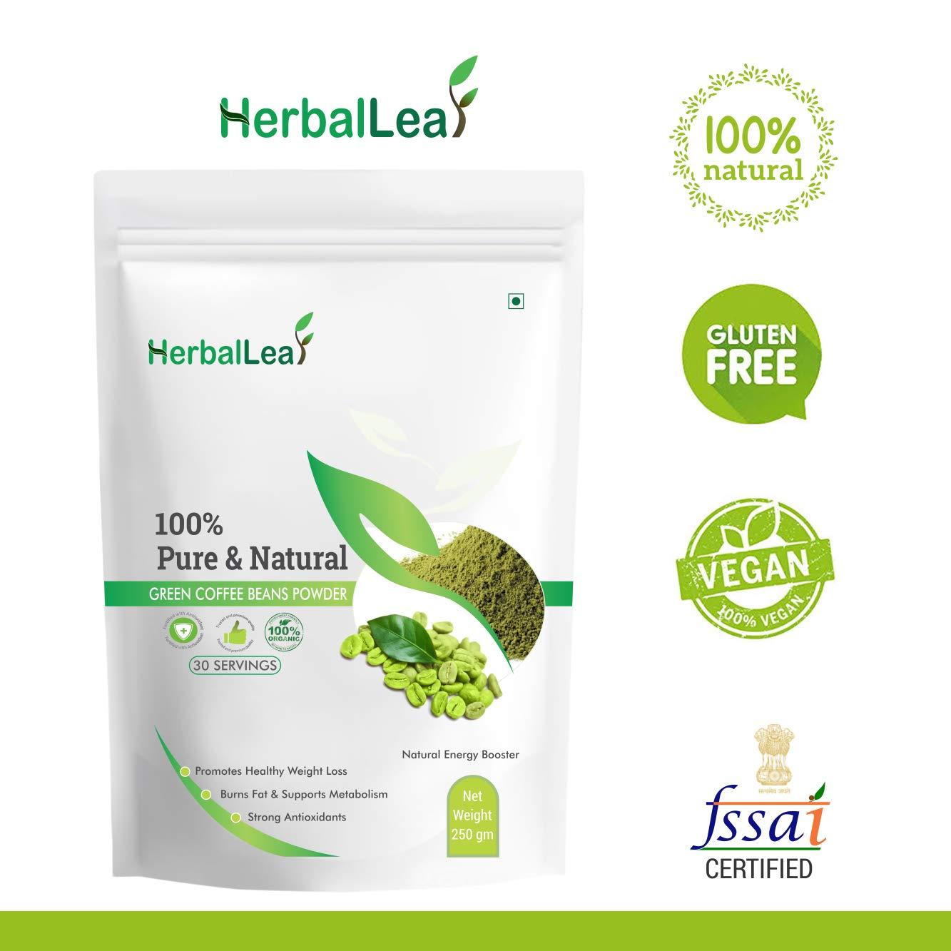 Buy HerbalLeaf Pure & Natural Green Coffee Beans Powder | Pack of 1