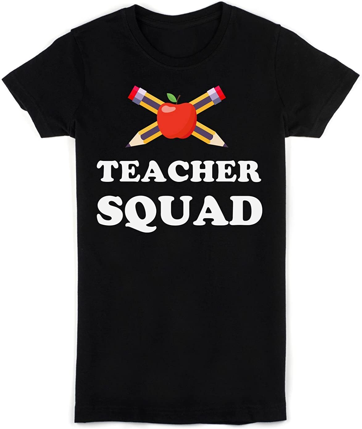 Teacher Squad Delicious Red Apple with Couple of Pencils Women's T-Shirt