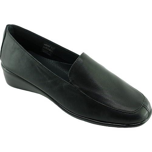 Aerobics Bogota Mocasín cuña Ultra Suave Super Flexible Confortable Zapatos Mujer pies sensibles Marque Cuero Negro, Negro (C-Noir), 41 EU: Amazon.es: ...