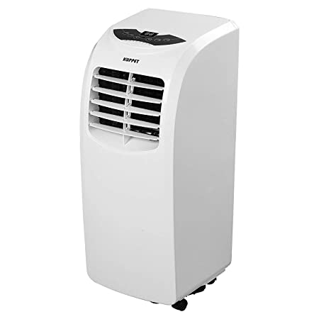 KUPPET 10000BTU Portable Air Conditioner with Remote Control for Rooms up to 200-Sq. Ft. Quiet-Cooling Fan-Dehumidifier-A C RC- Energy Saving