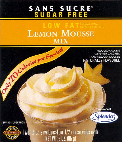 - Sans Sucre Lemon Mousse Mix - Gluten Free