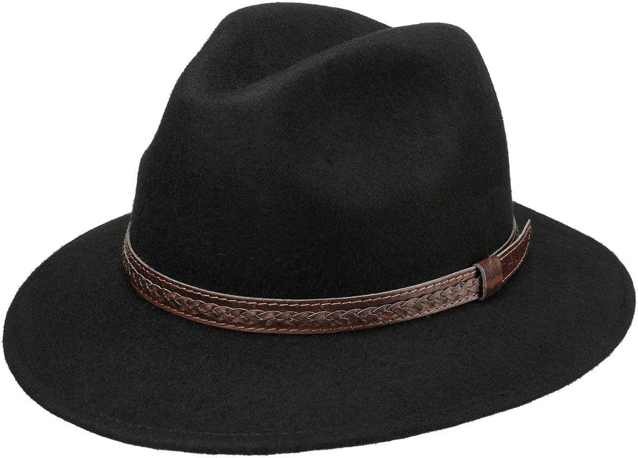 Lipodo Sombrero de Lana Kentucky Mujer/Hombre - Made in Italy Sombreros Hombre Fieltro con Banda Piel Verano/Invierno