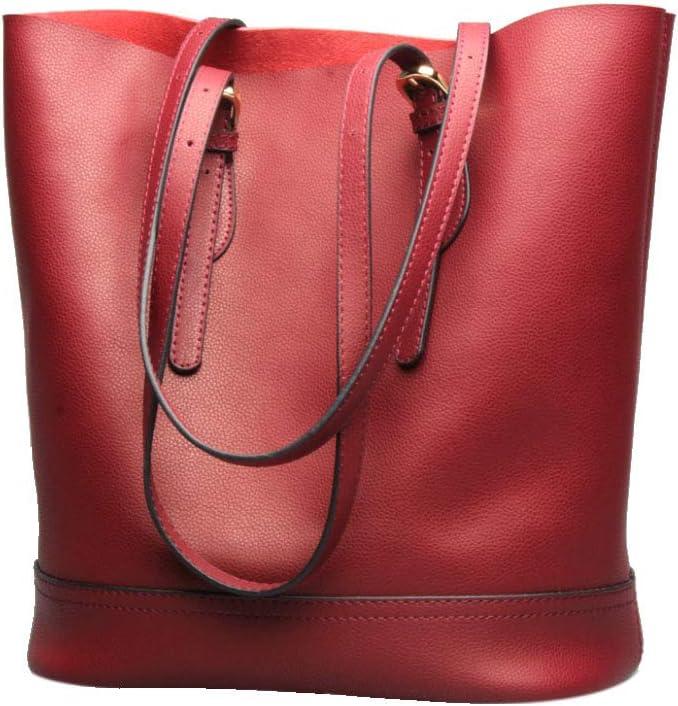 HWX Womens Fashion Versatile Leather Bag Bucket Bag Ladies Shoulder Casual Bag Handbag Color : 5 Waterproof Dustproof Anti-Theft Bag