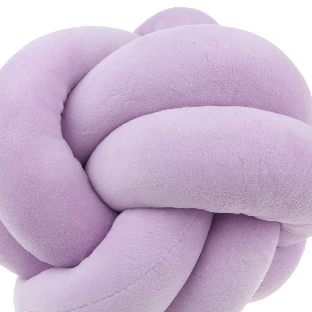 22cm P Prettyia Coussin Noeud Doux Coussin pour Maison Canap/é B/éb/é Pare-Chocs Sommeil D/écoration Violet