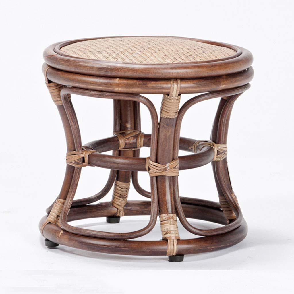 スツールラタン木製のスツールスツール現代的なミニマリストファッションシューズベンチクリエイティブラタンオットマンドレッシングスツール チェアベンチ (Color : Brown, Size : 36*36*32CM) 36*36*32CM Brown B07KR8FCLY