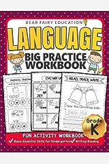 Language Big Practice Workbook, Activity Book for Kindergarten: Basic Essential Skills Grade K, Kindergarten workbook Paperback
