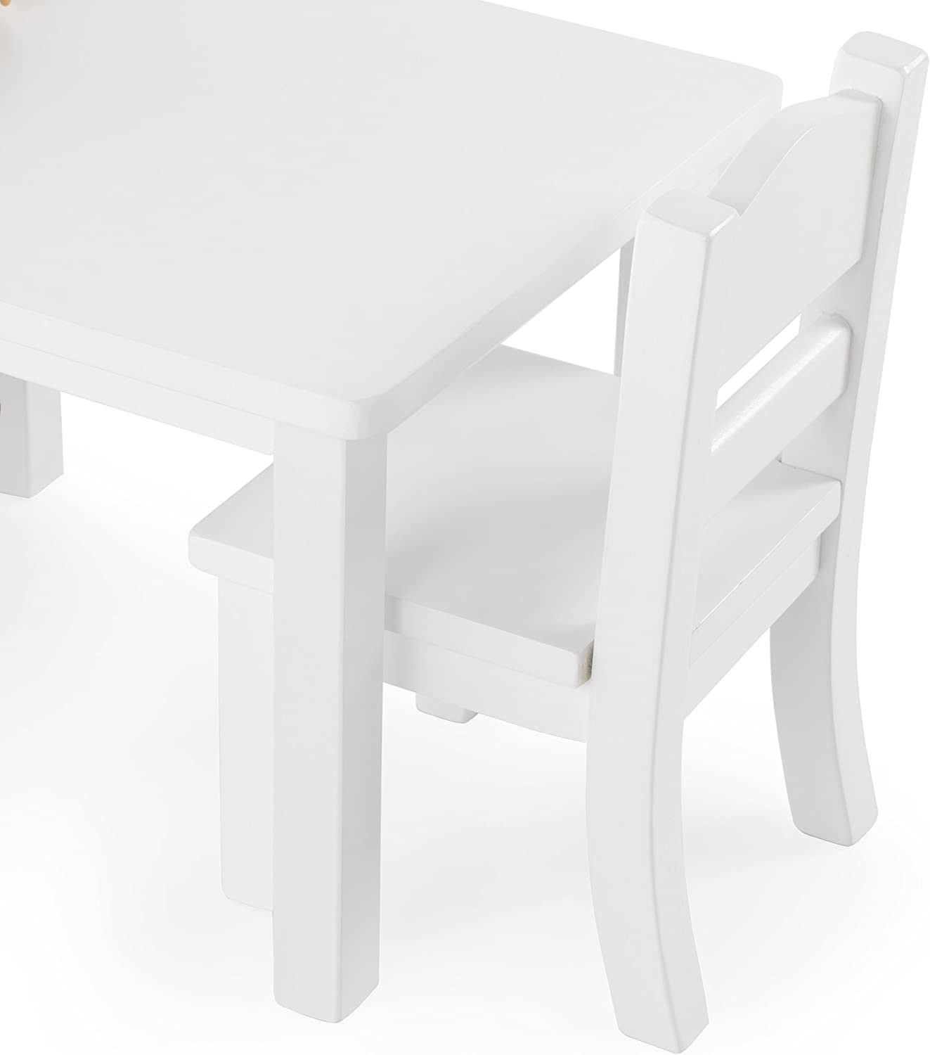 Fits 18 Americn Girl Dolls G98115 Guidecraft Espresso Dark Cherry Wooden Doll Table and Chairs Set