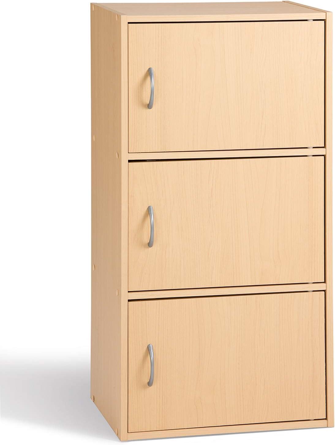 Alsapan Cube 1311 91440 Bookcase 3 Doors 40 x 29 x 80 cm Beech