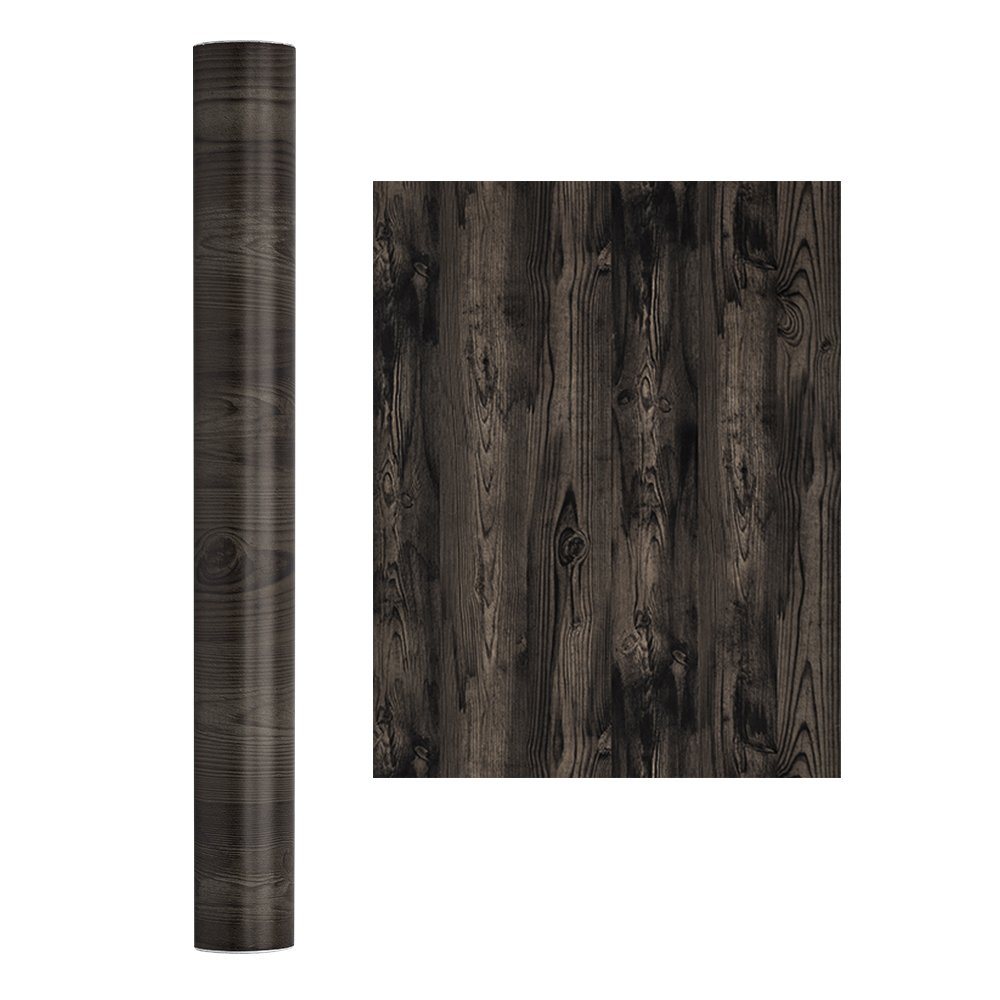 Wopeite Wood Grain Contact Paper Self-adhesive DIY Peel and Stick Removable Decorative Distressed Wood Brown Home Office Furniture Living Room