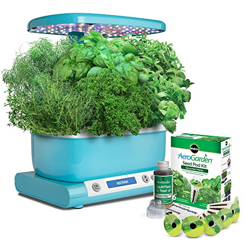 miracle-gro-aerogarden-harvest-lcd-control-panel-with-gourmet-herb-seed-pod-kit-teal