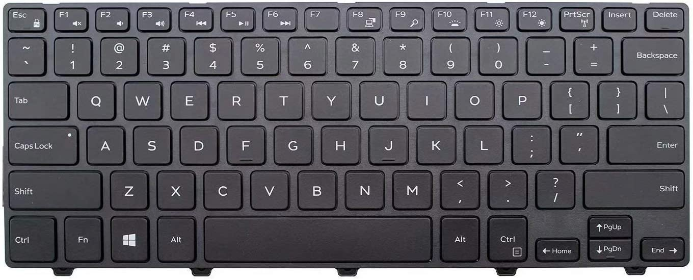Givwizd Replacement Keyboard Compatible for DELL Model US Layout Non Backlit P49G