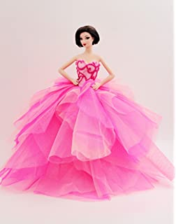 Cora Gu [Handmade Dress Fit for Barbie Doll] Handmade The Flamingo Gown/Dress
