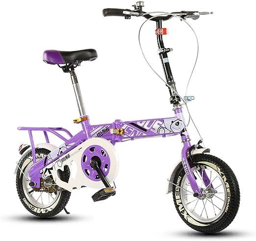 Bicicleta Plegable para niños, 12-14-16-20 Pulgadas para niños y ...
