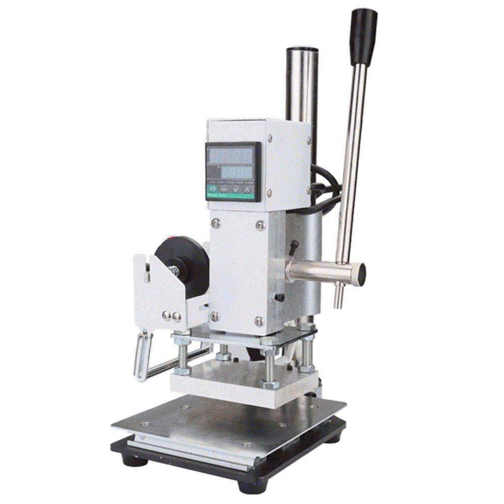 Finlon Digital Hot Foil Stamping Machine Manual Tipper Stamper Bronzing Wooden Bronzing Machine Stamping Machine by Finlon