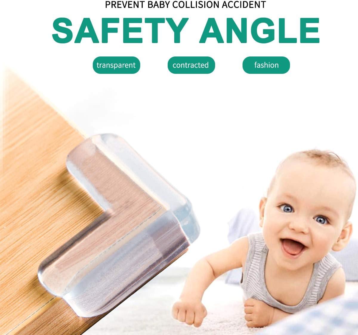 Trasparenti Copri Angolari Protezioni per Bambini di sicurezza Copri Angoli Per Tavoli E Mobili Con Adesivo 3M Forma Rotonda 20 Pezzi Paraspigoli Per Bambini