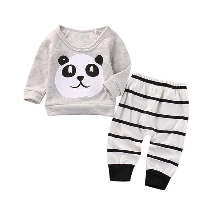 Conjunto de Ropa Recién Nacido Bebe Panda Patrón Sudaderas Camiseta ...